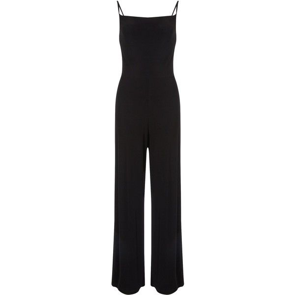 Miss Selfridge Cowl Neck Jumpsuit ($51) ❤ liked on Polyvore featuring jumpsuits, black, women, jumpsuits & rompers, jump suit, miss selfridge jumpsuit, black jump suit and cowl neck jumpsuit