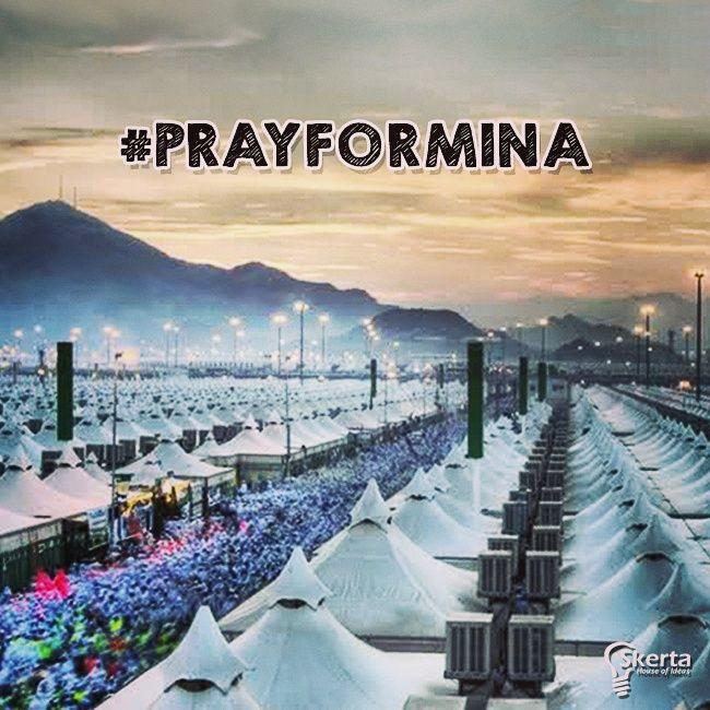 Turut berbela sungkawa atas tragedi mina. #prayformina