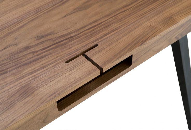 Viewing Matthew Hilton 365S Orson Compact Desk Product - discrete cable management