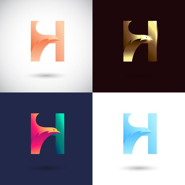 Creative Letter H Logo Design With Different Color Version Vector Of Logo Concept Icons Converter Icons Fitness Icons Maker Png And Vector With Transparent Logo Concept Logo Design H Logos