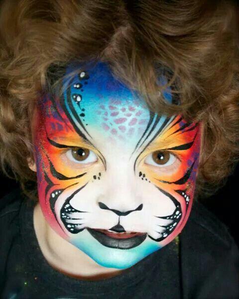 Fantasy tiger; boy; girl; adult