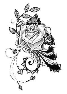 Lace Rose Tattoos on Pinterest | Tattoos and body art, Lace Tattoo .
