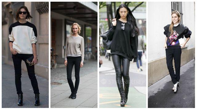 С чем носить черный свитшот? - Модная - мода, стиль, тенденции в 2017