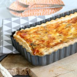 Simple Egg and Bacon Pie (only 6 ingredients!)