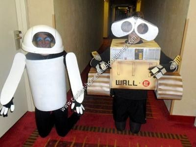Homemade Wall E and Eve Halloween Costumes: To start, it helps to understand the costume if you have seen the Pixar movie, WALL-E. My girlfriend and I are in love with that movie so we decided to