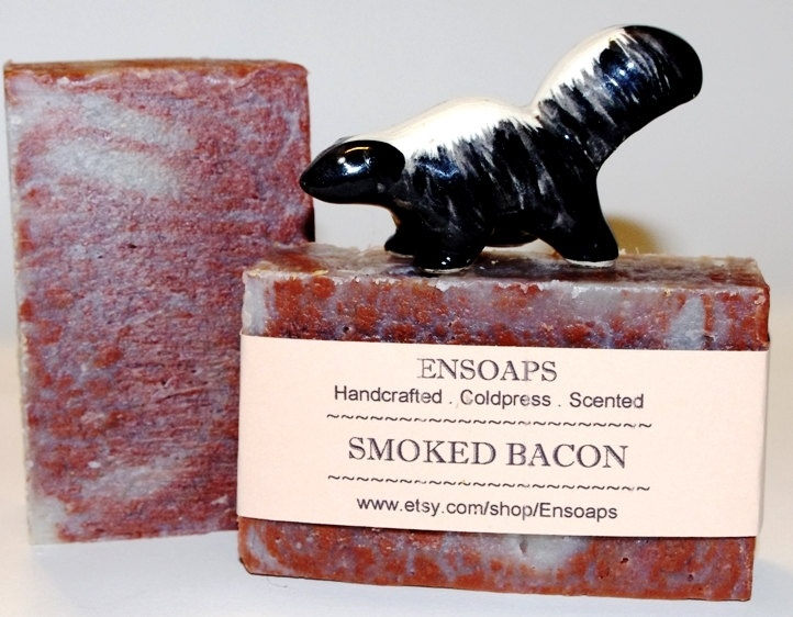 SMOKED BACON Soap Handmade Traditional Coldpress Soap for Men and all the Bacon Lovers in your life. $5.00, via Etsy.