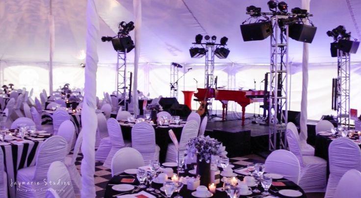 Black and white stripe wedding design - Wedding planner Site 6 Events Ltd