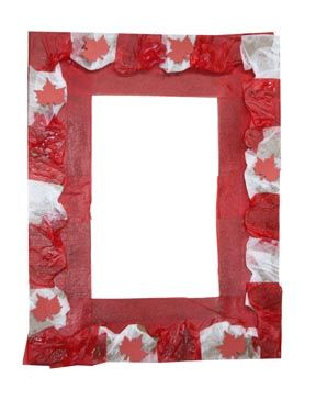 Make a patriotic picture frame craft for Canada Day (Craft Caravan Kids Craft Club July 2011)
