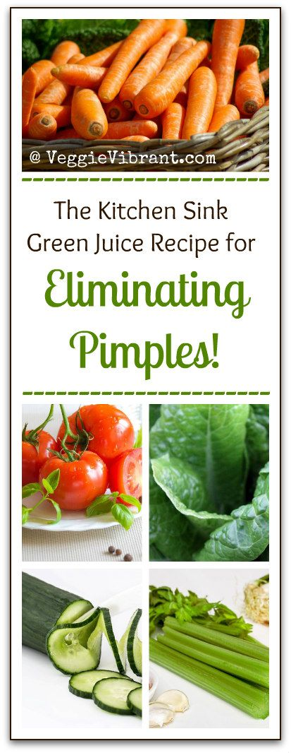 The kitchen skin green juice recipe for eliminating pimples