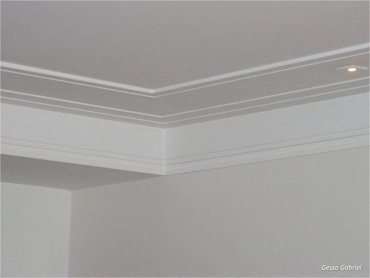 moldura de gesso para teto de banheiro - Pesquisa Google