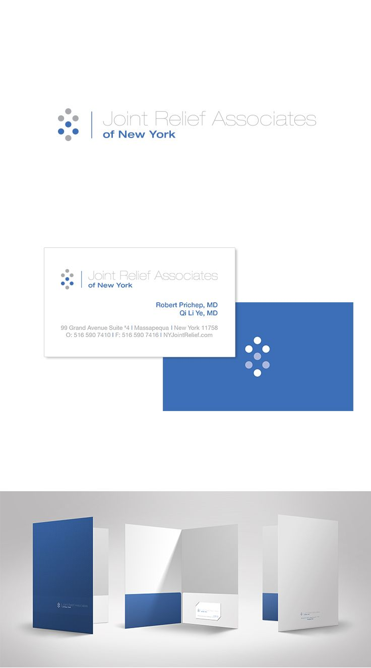 Joint Relief Associates of New York Logo & Identity Design #epicmarketing #marketing #logo #stationary #kitcover #identity