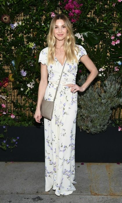 Whitney Port had a floral moment during the ban.do poolside party in L.A.