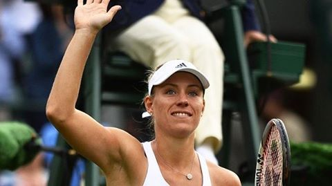 Angie will face compatriot Carina Witthoeft for a spot in the 4R today at about 5 pm local time, conditions permitting #angeliquekerber #kerber #tennis #wimbledon
