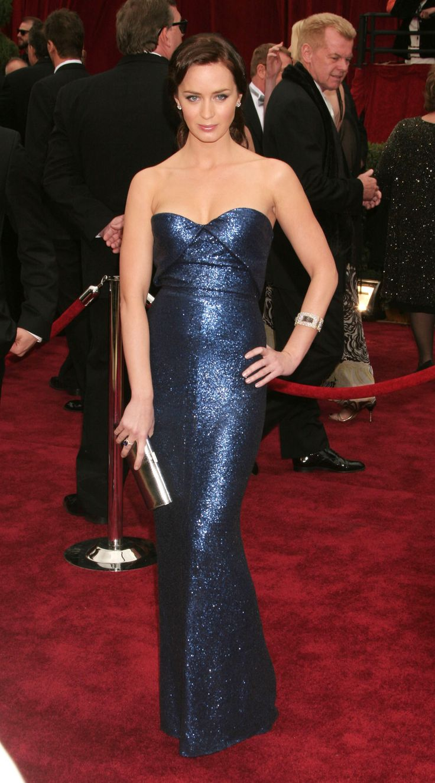 Emily Blunt sparkle blue dress