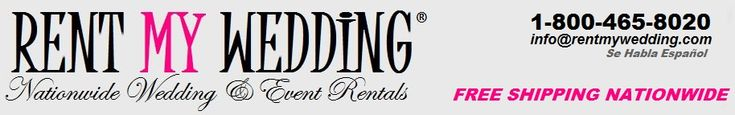 Rent My Wedding: Rent uplighting, backdrops, linens, spotlights, Photo Booth, and much more!