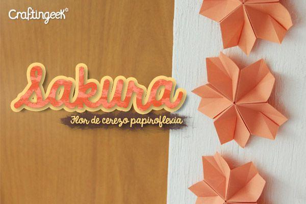 Sakura Modular – Flor de papiroflexia para decorar