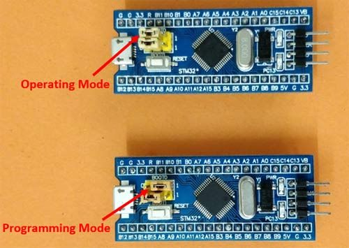 STM32 Operating and Programming Mode | STM32 Projects