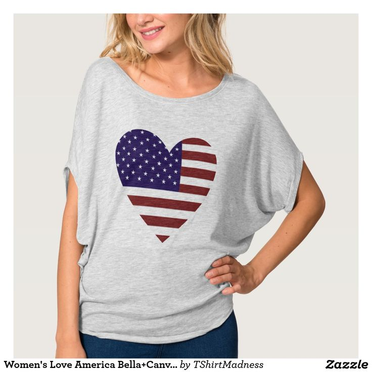 Women's Love America Bella+Canvas Flowy Circle Top