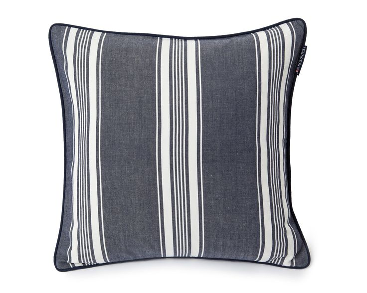Lexington Cushion Ticking Striped 50 x 50 cm navy