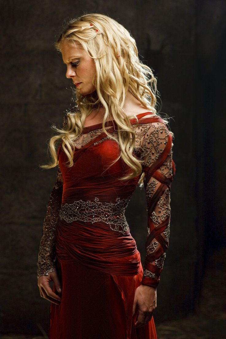 Morgause. I dont see much love for her on Merlin boards. Mostly I'm repinning this because of the dress...the costumes were brilliant