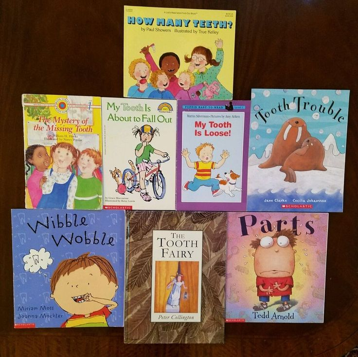 Lot of 8 Children's Picture Books about Losing Teeth Loose Tooth Fairy Parts