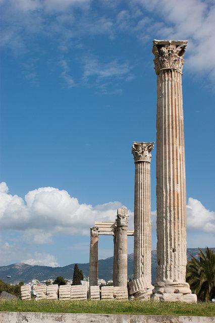 Ancient pillars | Temple of Zeus. Athens, Greece.