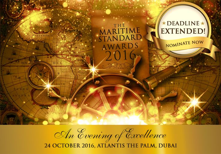 Nomination deadline extended for The Maritime Standard Awards 2016. Nominations now close on August 18th so you have just eight days to submit your entries. Nominate today! ‪#‎TMSAwards2016