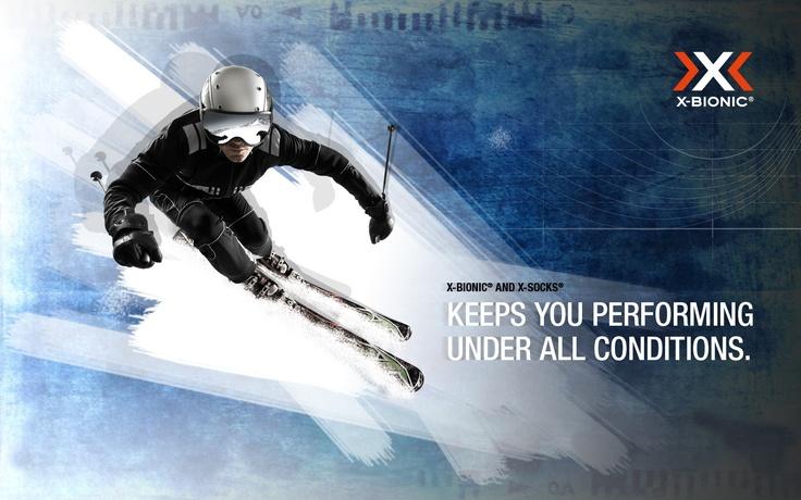 X-BIONIC Wallpaper Ski Art