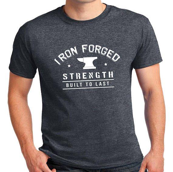 Quality Men's Dark Heather Grey Iron Forged T-Shirt.