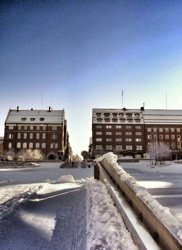 City center Östersund Jämtland Sweden