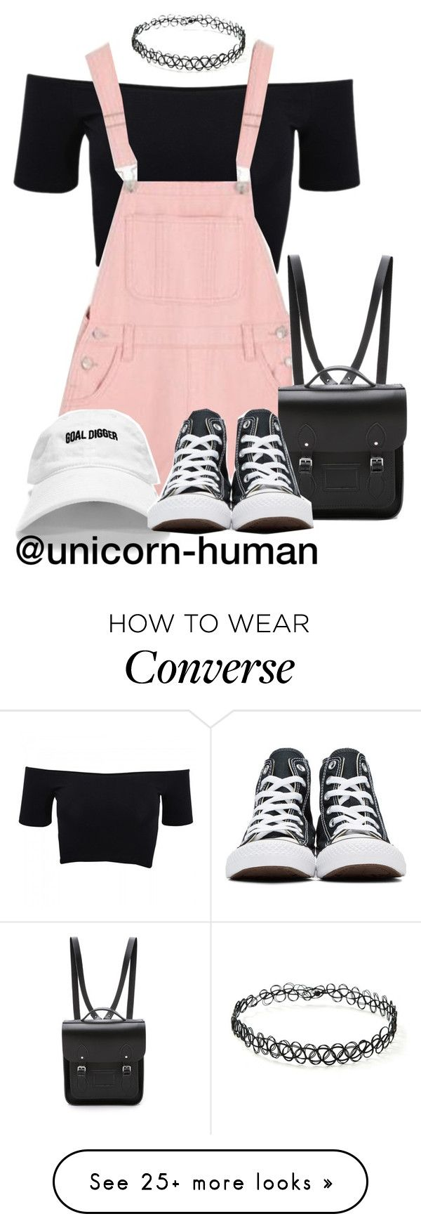 """Untitled #2926"" by unicorn-human on Polyvore featuring American Apparel, Forever 21, The Cambridge Satchel Company and Converse"