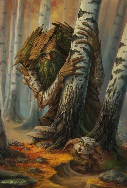 Прекрасные иллюстрации с героями славянского фольклора!