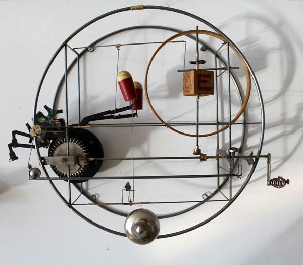 kinetic sculpture found objects | recent convert to Star Wheels for intermittent movement. It ...