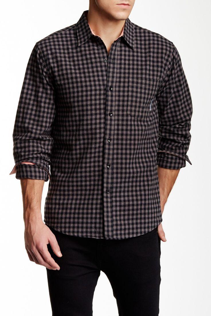 Harper Gingham Long Sleeve Slim Fit Shirt by Filthy Etiquette