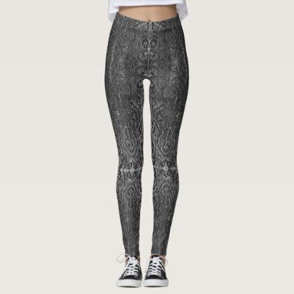 Romantic Weathered Gothic pattern with Crosses Leggings - diy cyo customize create your own #personalize