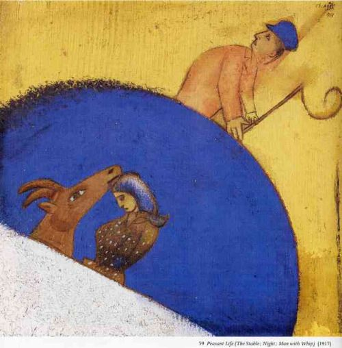 artist-chagall: Peasant Life (The Stable Night Man with Whip)...