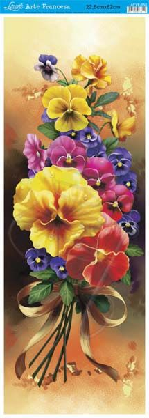 This would make a pretty pansy bookmark, which would make a very inexpensive table favour.  I could also use it as a gift tag.  Litoarte