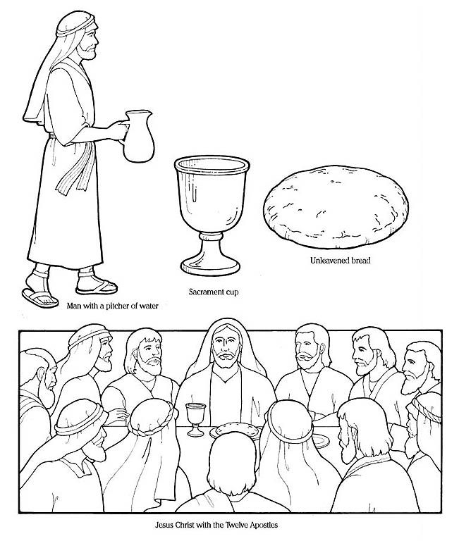 Last Supper The Gospels Bible Teaching Pinterest Last Supper Coloring Page