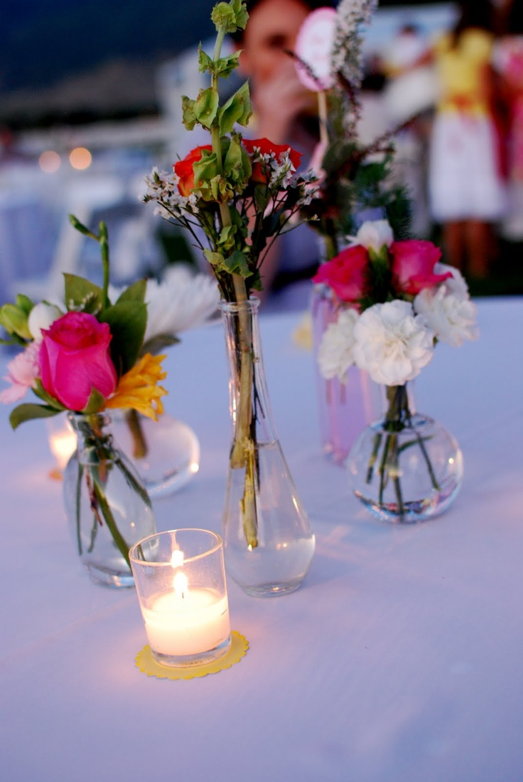 25 best wedding flowers images on pinterest blossoms floral bud vase centerpieces and votives at dusk love reviewsmspy