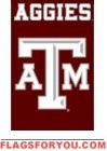 "Texas A & M Aggies Applique Banner Flag 44"" x 28"""