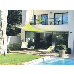 Voile d'ombrage triangulaire 3.6m coloris Anis