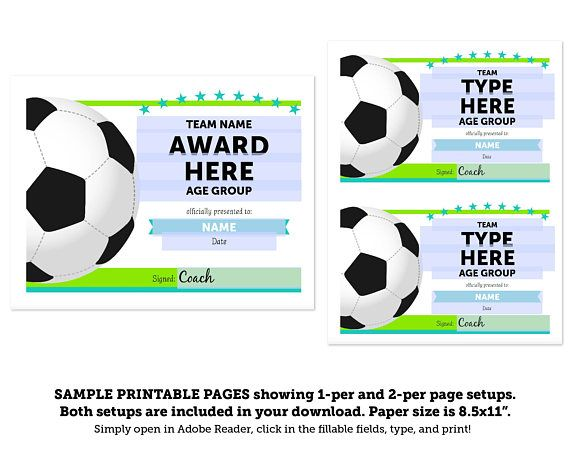 editable soccer award certificates