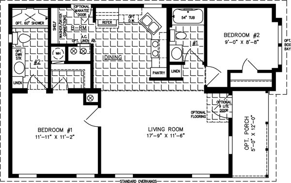 Floor plans manufactured homes modular homes mobile for Modular garage apartment floor plans