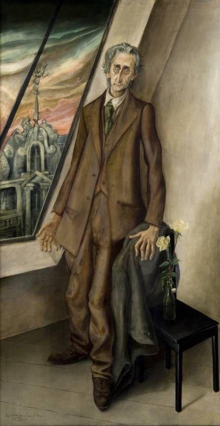Otto Dix Der Dichter Iwar von Lücken, 1926 Berlinische Galerie  ~Via James Bouse