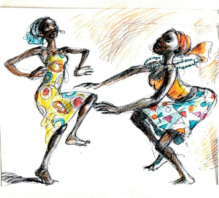 Alou Oakland   Two Dancers  