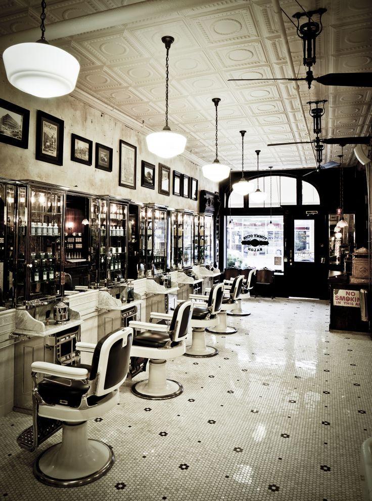 Retro Barber Interior חיפוש ב Google Hair Salon