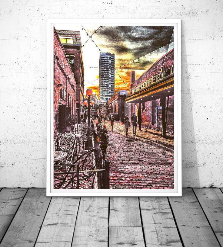 Toronto print Toronto Photography Toronto wall art Distillery District print Sunset Print HDR wall art Canada wall Decor digital download by S4StarSbySiSSy on Etsy https://www.etsy.com/ca/listing/289841747/toronto-print-toronto-photography