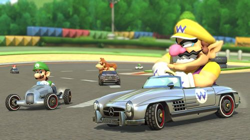 #Wario and #Luigi in their #Mercedes Benz Karts which are going to be added to #MarioKart8 on 27th August 2014.   See more info on this update at http://www.superluigibros.com/mercedes-cars-to-be-added-to-mario-kart-8