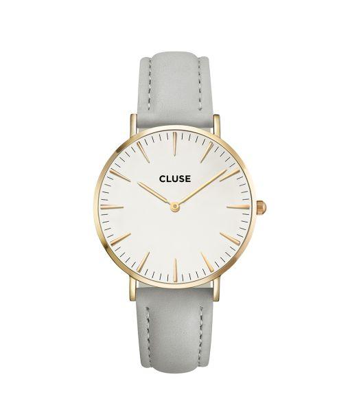 Cluse Hodinky La Bohéme Gold White/Grey