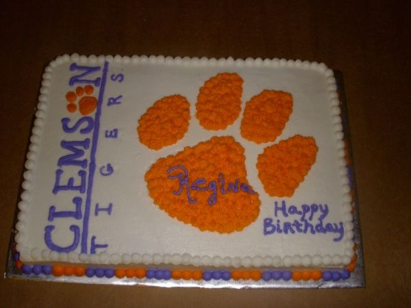 Image Detail For -Clemson Birthday Cake By UnionSweets On